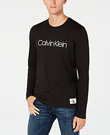 Calvin Klein Men's Logo Long-Sleeve Cotton T-Shirt