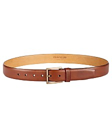 Kenneth Cole New York Men's Feather-Edge Leather Dress Belt, Created for Macy's