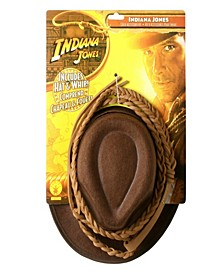 Indiana Jones - Indiana Jones Hat and Whip Set Little and Big Boys Accessory