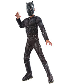 Marvels Captain America: Civil War Black Panther Deluxe Muscle Chest Boys Costume