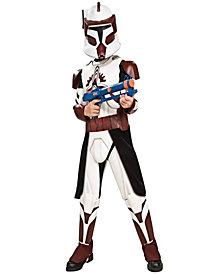 Star Wars Clone Wars Deluxe Commander Fox Boys Costume