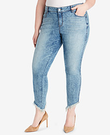 WILLIAM RAST Plus Size Raw-Hem Skinny Jeans