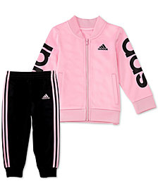 adidas Toddler Girls 2-Pc. Tricot Jacket & Pants Set