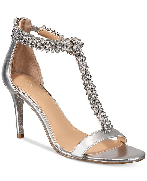 Jewel Badgley Mischka Janna Embellshed Evening Sandals