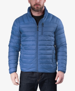 Hawke & Co. Outfitter Men's Packable Down Blend Puffer Jacket, Created For Macy's In Sapphire Blue