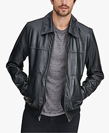 Marc New York Men's Shirt Collar Leather Jacket
