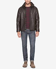 Marc New York Men's Leather Jacket with Bib