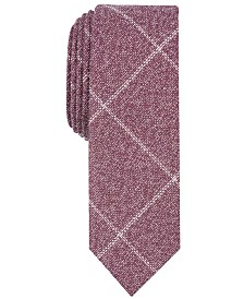 Penguin Men's Darsow Grid Skinny Tie