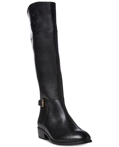 d25e634cca4 Lauren Ralph Lauren Madisen Wide Calf Riding Boots   Reviews - Boots ...