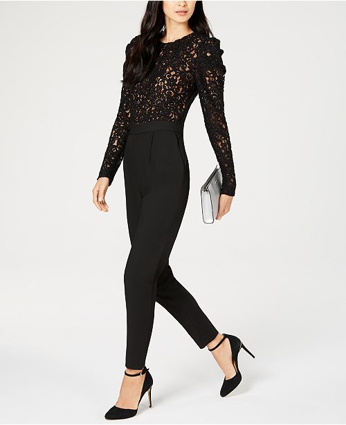 d88cf831741 Michael Kors Lace-Bodice Jumpsuit   Reviews - Pants   Capris ...