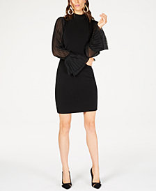Thalia Sodi Chiffon-Sleeve Sheath Dress, Created for Macy's