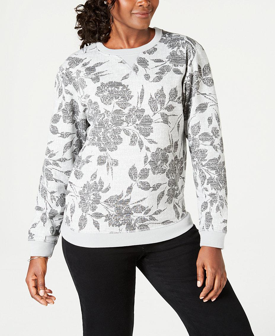 3f34c694546 Karen Scott. Batik-Print Sweatshirt