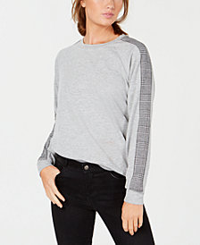 Hippie Rose Juniors' Contrast Sweatshirt