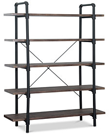 Zach 5-Tier Book Shelf, Quick Ship