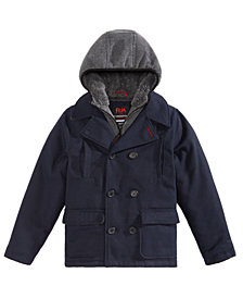 RM 1958 Big Boys Ari Layered-Look Hooded Peacoat
