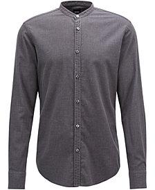 BOSS Men's Slim-Fit Flannel Cotton Shirt