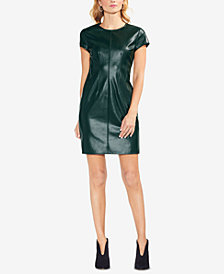 Vince Camuto Faux-Leather Sheath Dress