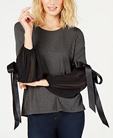 Vince Camuto Tie-Sleeve Top, Created for Macy's