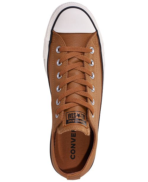 c9ba5eea20baaa ... Converse Unisex Chuck Taylor Ox Leather Casual Sneakers from Finish Line  ...