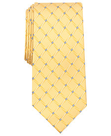 Perry Ellis Men's Bastille Grid Silk Tie