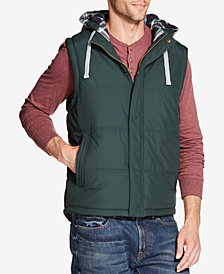 Weatherproof Vintage Men's Quilted Hooded Vest, Created for Macy's