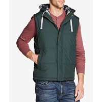 Weatherproof Vintage Mens Quilted Hooded Vest