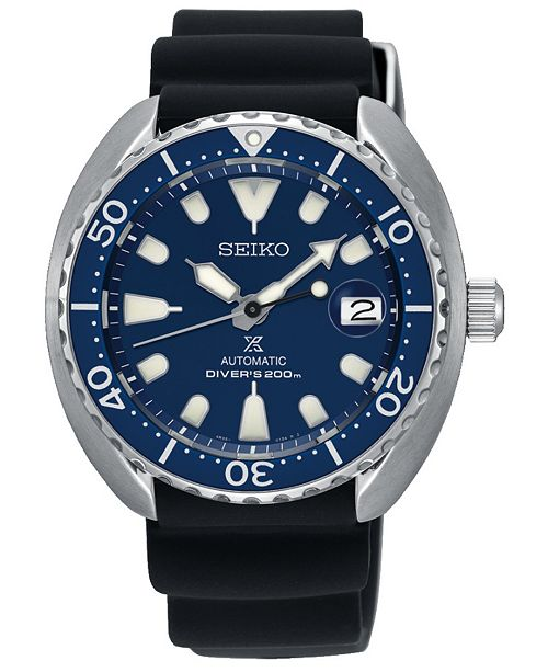 Seiko LIMITED EDITION Men's Automatic Prospex Black Silicone Strap Watch 42.3mm, Created for Macy's - A Limited Edition