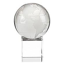 Globe Art Glass Sculpture