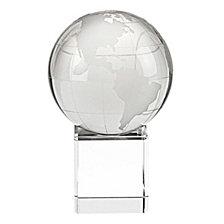 Badash Crystal Globe Art Glass Sculpture