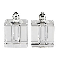 Badash Crystal Vitality Platinum Salt  & Pepper Shaker Pair