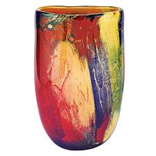 Badash Crystal Firestorm Oval Vase