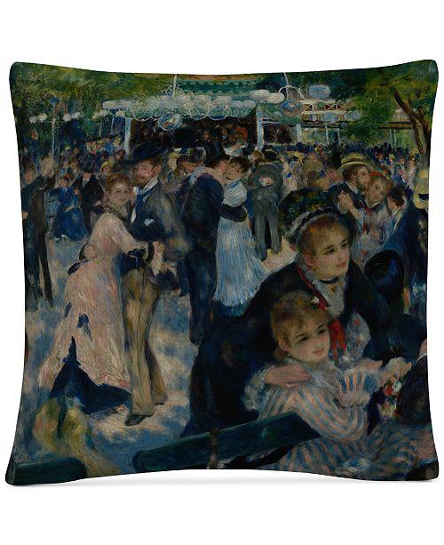 """Baldwin Pierre-Auguste Renoir Le Moulin de la Galette 16"""" x 16"""" Decorative Throw Pillow"""