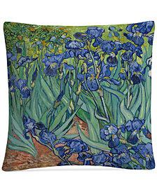 "Vincent van Gogh Irises, 1889 16"" x 16"" Decorative Throw Pillow"