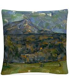 """Paul Cezanne Mont Sainte-Victoire 16"""" x 16"""" Decorative Throw Pillow"""