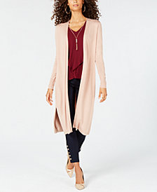 Thalia Sodi Gauge-Trim Duster Cardigan, Created for Macy's