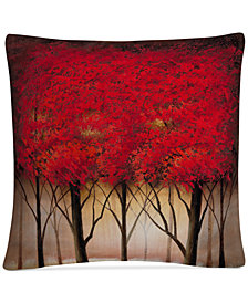 "Rio Serenade in Red 16"" x 16"" Decorative Throw Pillow"
