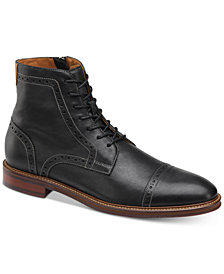 Johnston & Murphy Men's Warner Cap-Toe Zip Boots