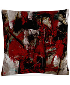 "Masters Fine Art Abstract IV 16"" x 16"" Decorative Throw Pillow"
