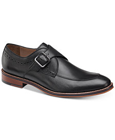 Johnston & Murphy Men's Conrad Embossed Monk-Strap Loafers