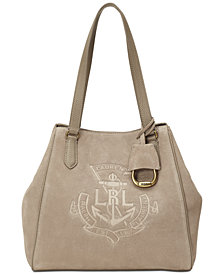 Lauren Ralph Lauren Suede Huntley Tote