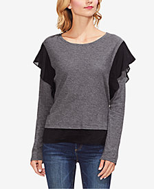 Vince Camuto Ruffle-Trim Top