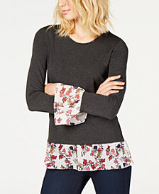 Vince Camuto Layered-Look Top, Created for Macy's
