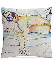 "Pat Saunders-White Sleeping Beauty 16"" x 16"" Decorative Throw Pillow"