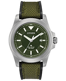 Citizen Eco-Drive Men's Promaster Tough Military Green Fabric Strap Watch 42mm