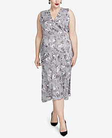 RACHEL Rachel Roy Trendy Plus Size Printed Giles Dress