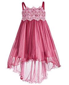 Bonnie Jean Big Girls Embroidered Empire-Waist Party Dress