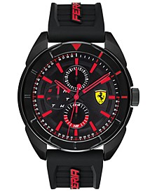 Men's Forza Black Silicone Strap Watch 45mm