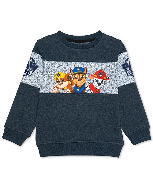 fcb8a52278 Nickelodeon Little Boys Paw Patrol Sweatshirt   Reviews - Sweaters ...