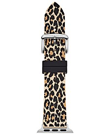 Women's Leopard Silicone Apple Watch® Strap