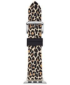 Women's Leopard Silicone Apple Watch® Strap